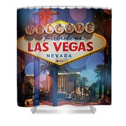 Welcome To Vegas Xii Shower Curtain