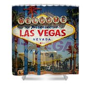 Welcome To Vegas Xiii Shower Curtain