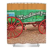 Woodland Park, Colorado, The City Above The Clouds, Elevation 8500 Feet, 2590 Meters Above Sea Level Shower Curtain