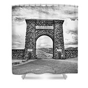 Welcome To Yellowstone Too Shower Curtain
