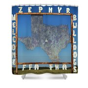 Welcome To Zephyr Texas Shower Curtain
