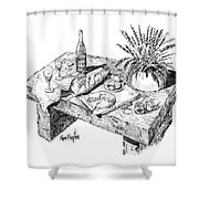 Welcoming At Le Coin Retro In Le Thor France Shower Curtain