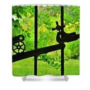 Welded Garden Gate Shower Curtain