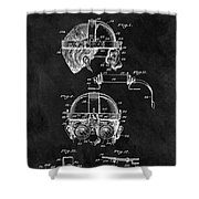 Welding Goggles Patent Shower Curtain