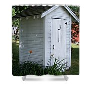 Well Manicured Water Closet Shower Curtain