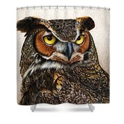 Well...  Shower Curtain by Pat Erickson