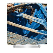 Well Used Fishing Boat Shower Curtain