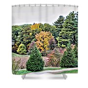 Wellesley College Campus Shower Curtain