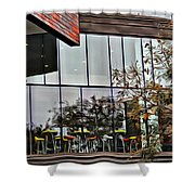Wellesley College Wang Campus Center Detail Shower Curtain