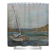 Wellfleet Beached Shower Curtain
