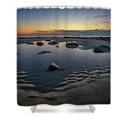 Wells Beach Solitude Shower Curtain