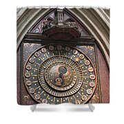Wells Cathedral Astronomical Clock Shower Curtain