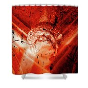 Wells Cathedral Gargoyles Color Negative D Shower Curtain