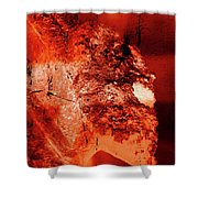 Wells Cathedral Gargoyles Color Negative E Shower Curtain