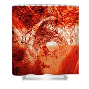 Wells Cathedral Gargoyles Color Negative H Shower Curtain