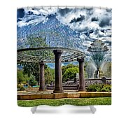 Wellspring Fountain - Council Bluffs Iowa Shower Curtain