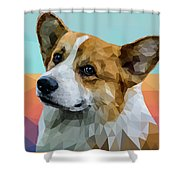 Welsh Corgi Shower Curtain