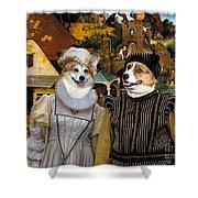 Welsh Corgi Pembroke Art Canvas Print - The Dutch Proverbs Shower Curtain