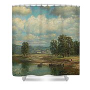 Weltz Ivan 1866-1926 By The River Shower Curtain