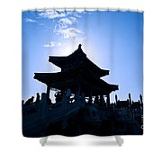 Wenchang Pavillion Shower Curtain