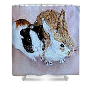 Wendy And Bobby  Shower Curtain