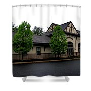 Wenonah- Borough Hall Shower Curtain