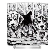 Were Beagles 1 Shower Curtain