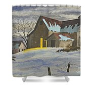 We're Home On The Farm Shower Curtain