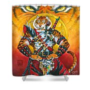 Werecat Warrior Shower Curtain