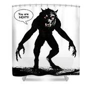 Werewolf Comic Illustration 1 Shower Curtain