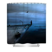 West Across The Ocean Shower Curtain