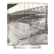 West Bromwich Albion - The Hawthorns - Brummie Road End 1 - Bw - 1960s Shower Curtain
