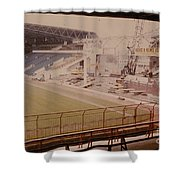 West Bromwich Albion - The Hawthorns - Halfords Lane West Stand 2 - Construction - 1980 Shower Curtain