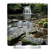West Burton Falls, Yorkshire, England Shower Curtain