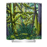 West Coast Landscape Painting Shower Curtain