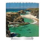 West Coast Portugal Shower Curtain