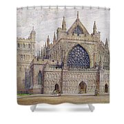 West Front, Exeter Cathedral Shower Curtain