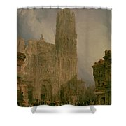 West Front Of Notre Dame Shower Curtain