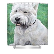 West Highland Terrier Shower Curtain