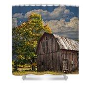 West Michigan Barn In Autumn Shower Curtain