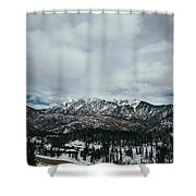West Needle Mountain Shower Curtain