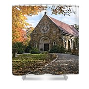 West Parish Chapel In Fall, Andover, Ma Shower Curtain