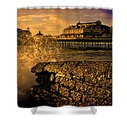 West Pier Splash Shower Curtain