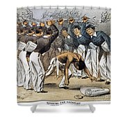 West Point Cartoon, 1880 Shower Curtain