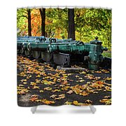 West Point Fall Leaves Shower Curtain