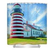 West Quaddy Head Lighthouse Shower Curtain
