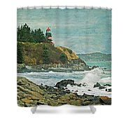 West Quoddy Head Lighthouse Shower Curtain