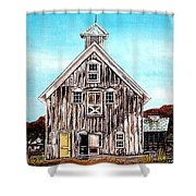 West Road Barn - All Rights Reserved Shower Curtain