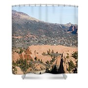 West Springs And Distant Garden Of The Gods Shower Curtain