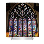 West Stained Glass Window Christ Church Cathedral 1 Shower Curtain